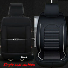 1x Comfortable Breathable PU Leather 6D Front Seat Non-slip Single Cover Cushion