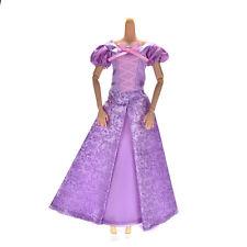1 Pcs Purple Princess Wedding Gown Dress for Barbies Tangled Dolls PL