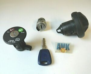 Schloßsatz Zündschloß Tankdeckel Airbag Schlüssel Fiat Punto 188 2003 >