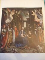 ANTIQUE PRINT C1930S ADORATION OF THE MAGI BY MABUSE VINTAGE ART PAINTING PRINT
