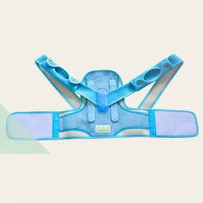 Adjustable Kids Children Back Posture Corrector Support Lumbar Shoulder Brace Blue M
