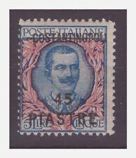 COSTANTINOPOLI  1923  -    45 PIASTRE SU 5 LIRE   NUOVO  **