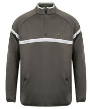 Island Green Mens Golf 1/4 Zip Bonded Fleece Casual Pullover IGTOP1662