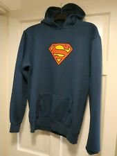 Men's Superman Blue Hoodie Kangaroo Pockets Medium 38/40 EXCELLENT