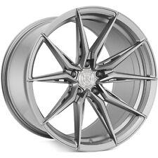 4 20x920x105 Staggered Rohana Wheels Rfx13 Brushed Titanium Rims B9 Fits 2012 Jeep Grand Cherokee