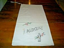 Vintage Hand Embroidered Laundry Bag-Asian with Iron (F-1)