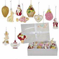 """Kurt Adler 2.75""""-4"""" Noble Gems Wedding Glass Ornament~Set of 12~Christmas Gift"""