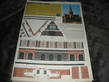 RARE paper Model Kit-Waaggebouw-Alkmaar-1988-by Schuijt-Watch Tower-Holland-Mint