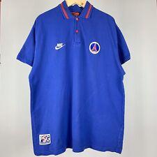 Men's VINTAGE Nike PSG Paris Saint-Germain Soccer Polo Shirt Adult Size L/XL