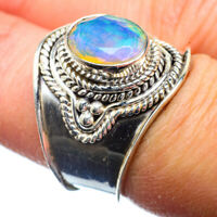 Ethiopian Opal 925 Sterling Silver Ring Size 7.75 Ana Co Jewelry R39820F