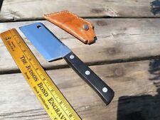 Vintage Kabar Meat Cleaver Sheath Kitchen Knife Saw Deer Big Small Game Hunting