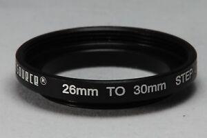 26-30mm Step up Filter ring - Black Aluminium - UK