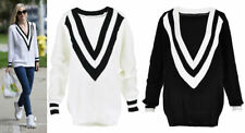 Polyester V-Neck Machine Washable Jumpers & Cardigans for Women