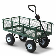 Gardeon Mesh Garden Steel Cart (GCT-MESH-360KG-GN) - Green