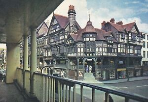 Chester.  The Cross. Vintage Dixon postcard in Good Condition. Unused