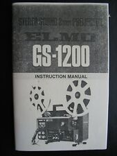 Elmo Gs-1200 Sound 8mm Projector Owners Instruction Manual