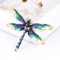 Trendy Retro Art decor Dragonfly Wing Lapel Brooch Pin Badge Male Decoration
