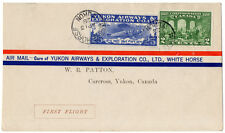 (I.B) Canada Private Air Mail : Yukon Airways 25c (First Flight Cover)