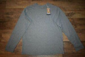 Patagonia Men's P-6 Logo Responsibili-Tee L/S Shirt 38518 Size XL Gravel Heather