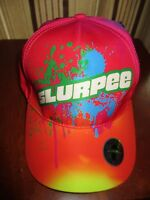 SLURPEE Baseball Cap Tie Dye Splatter All Over Print Neon Adjustable 7-ELEVEN