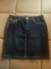 STYLE & CO. Stretch Blue Denim Skirt with Bling sz. 16 Tummy Control