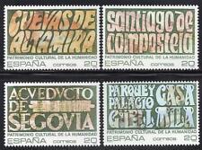 España estampillada sin montar o nunca montada 1989 SG3044-47 Patrimonio Mundial de la UNESCO