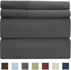 Extra Deep Pocket Sheets - 4 Piece Sheet Set - Queen Sheets Deep Pocket- Extra D