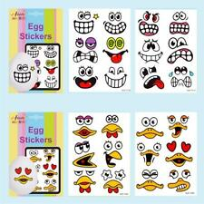 24x Silly Faces for Egg Shell Stickers Sticker Easter Fun Game Kids Create Craft