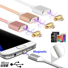 2.4A 1M Magnetic Micro USB Data Lightning Charge Cable For Android phone