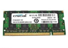 Crucial PC2-5300 2 GB SO-DIMM 667 MHz DDR2 SDRAM Memory (CT25664AC667)