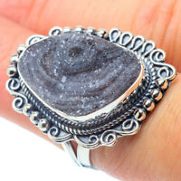 Large Desert Druzy 925 Sterling Silver Ring Size 7 Ana Co Jewelry R30788F