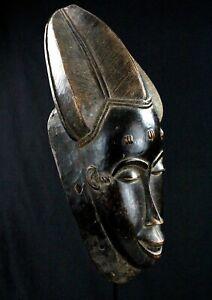 Art African tribal Arte African - Mask Billiards Ball Baoulé - Africa - 41,5 CMS