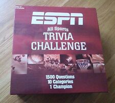 ESPN All Sports Trivia Challenge Game 1500 Questions 10 Categories Toy Board