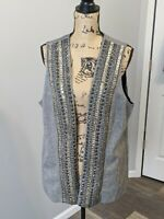 Vintage Women's Chico's Vest Weighted Gray Size 3 - 2XL