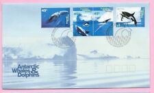 AUSTRALIA (AAT) FDC 1995 - ANTARCTIC WHALES & DOLPHINS Stamps - Shs Kingston TAS