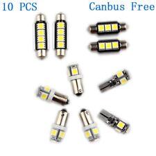10pcs LED Interior Light Bright White Car Bulbs Canbus For AUDI A3(8P)