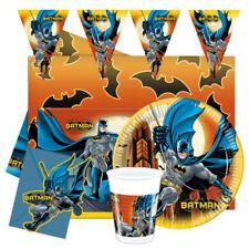 Decoración y menaje platos para mesas de fiesta de Batman