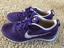 "New Womens 10.5 NIKE ""FlyKnit Lunar 1"" Purple Running Shoes $160 554888-555"