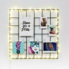 Merkury Innovations Light Up LED Photo Clip Grid with Photo Clips