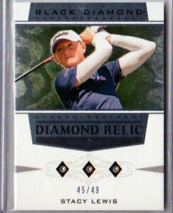 2021 UD Artifacts Golf STACY LEWIS BLACK DIAMOND TRIPLE DIAMOND RELIC /49!