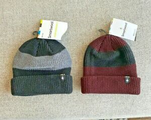 NWT SMARTWOOL SNOW SEEKER RIBBED CUFF STRIPE BEANIE 2 COLORS