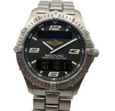 Breitling Aerospace Titanium Men's Watch E65362 Serviced, Mint!