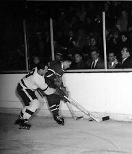 Gordie Howe Detroit-Jean Beliveau Montreal Auction Unsigned 8x10 Photo