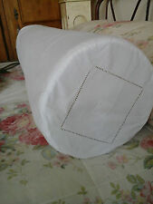 "Antique French Metis Linen Day Bed Bolster Sham/Case -52"" ~Beautiful Embroidery"