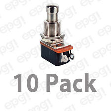 SPST (N/O) MOMENTARY ON METAL BUTTON PUSH BUTTON SWITCH 4A@ 125VAC#PBS24B4-10PK