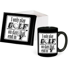 "Boxed Coffee Mug--I Only Golf in Days That End in ""Y""-by Carson Home #64300"