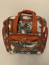 Cynthia Rowley Snakeskin Print Carry-On Rolling Luggage