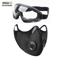 Cycling Outdoor Sports Glasses Dirt Bike Glasses Mouth Cover Shielf with Filter