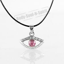 Collar ROSA del ojo malvado cristal Amuleto Colgante Joyería Judaica Kabbalah