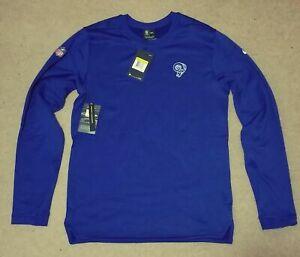 Mens Nike Los Angeles Rams Royal Coaches On Field Sweatshirt Blue NWT $75